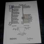 SCA scroll for Swayne Mac Awliffe